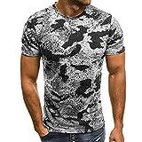 ITISME Hommes Impression Tees Chemise T-Shirt à Manches Courtes Coton Décontracté Chemisier