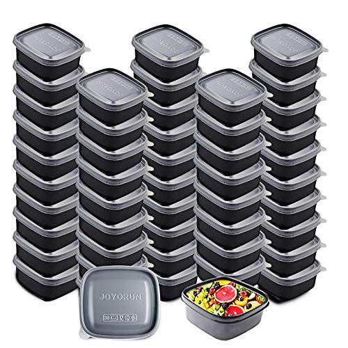 Meal Prep Containers Food Storage Containers with Lids - Stackable, Microwave, Dishwasher & Freezer Safe - 8.5 oz, 50 Packs