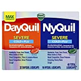 Vicks DayQuil and NyQuil SEVERE, Cough, Cold and Flu Relief, Sore Throat, Fever, and Congestion Relief, Day and Night Relief, Maximum Strength, 48 LiquiCaps (32 DayQuil, 16 NyQuil)
