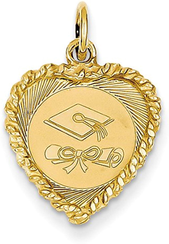 Diamond2Deal 14k Yellow gold Graduation Cap Pendant