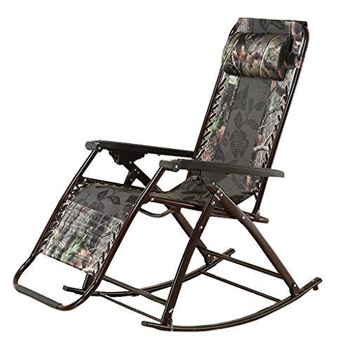 Sillón reclinable Plegable Mecedora de Playa Textoline Tumbona Ajustable Sillas de Gravedad Cero con reposacabezas Silla ensanchada para jardín Camping al Aire Libre
