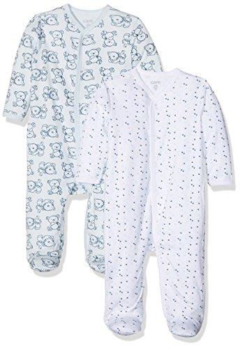 Care Baby-Jungen Schlafstrampler, 2er Pack, Blau (Light blue 700), 3 Jahre (Herstellergröße: 98 )