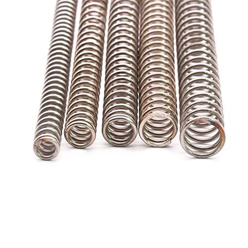Zmaoyun-Muelles de presión Y Tipo comprimido Primavera Longitud 305 mm Diámetro de Alambre de 2 mm Resorte de compresión 1PCS, DIY Multiusos (Length : 2x24x305mm)