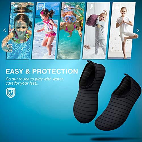 SIMARI Kids Water Shoes Girls Boys Toddler Quick Dry Anti Slip Aqua Socks for Beach Outdoor Sports SWS003