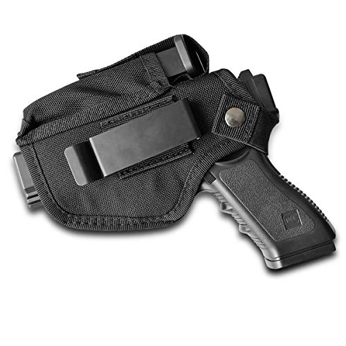 IWB Holster,Inside Waistband Holster with Tactical Magazine Pouch for Left or Right Handed - Black