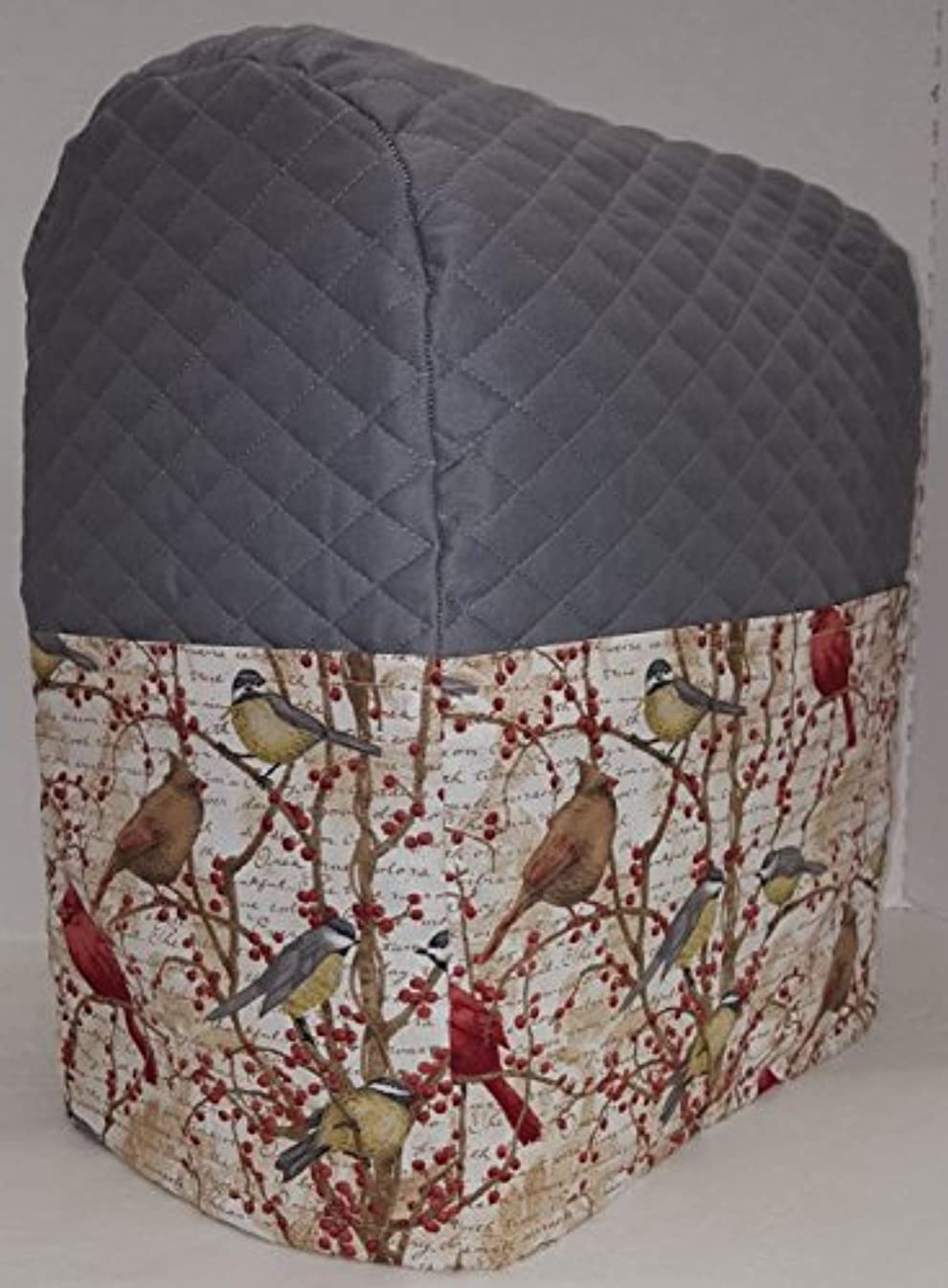 Penny's Needful Things Birds & Berries Cover Compatible for Sunbeam Mixmaster (Gray)