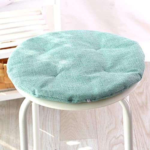 JYHS - Cuscino rotondo per sedia, in lino, ecologico, morbido, morbido, morbido, antiscivolo, base portatile, tinta unita, diametro: 50 cm, confortevole