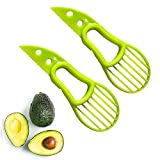 2pcs Avocado Slicer Tool, Professional Avocado Tool 3-in-1 Multifunctional Avocado Slicer,Avocado Pitters, Avocado Cutter Green
