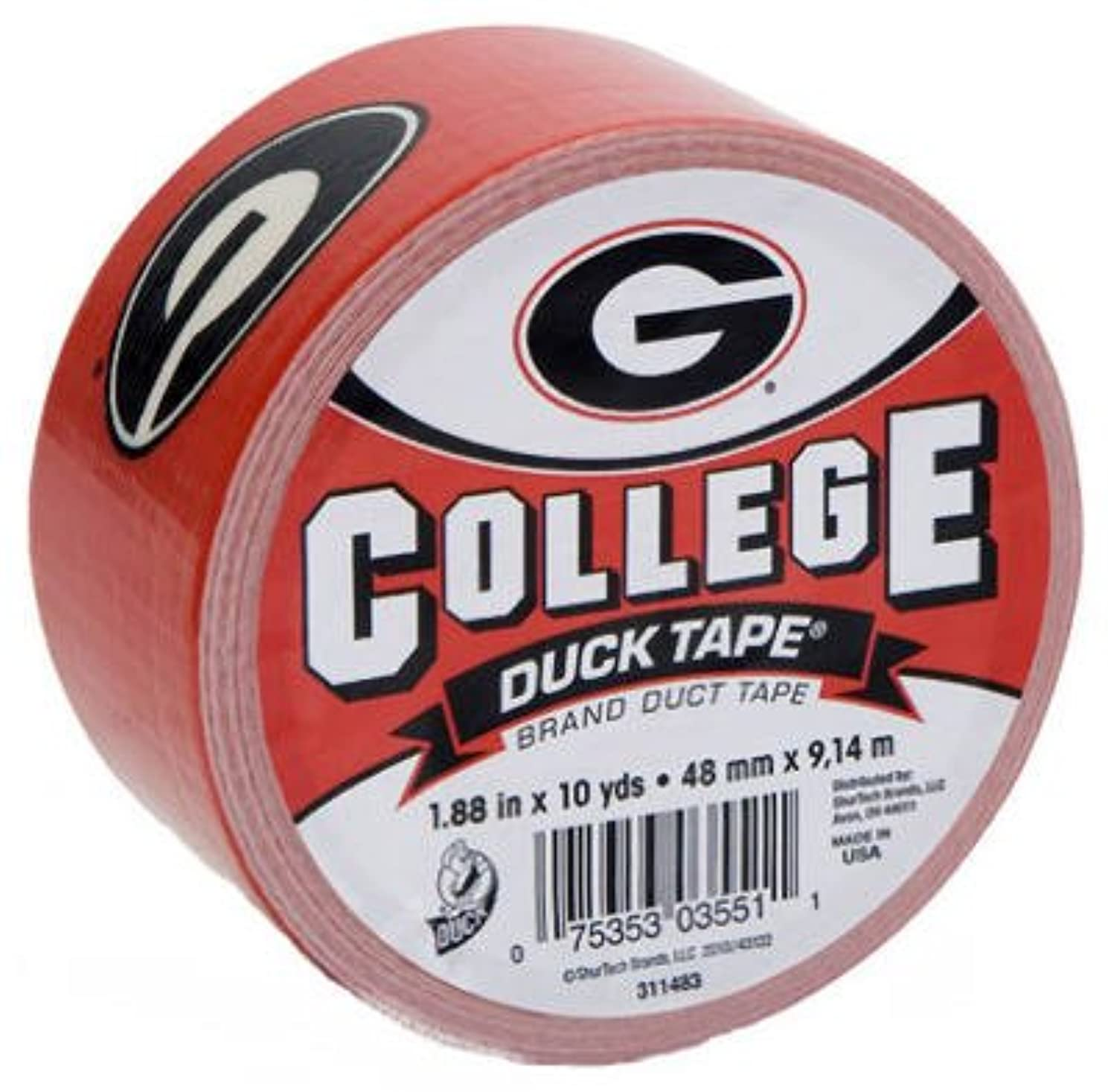 Duck Brand 240073 College Logo Duct Tape, 10 yds Length x 1-7/8