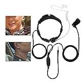 Universal Headset,3.5mm PTT Throat Mic Earpiece Anti Radiation Covert Air Acoustic Tube Headset for Mobile Phone for Samsung