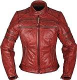 Modeka Iona Damen Motorrad Lederjacke Rot 40