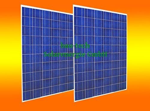 bau-tech Solarenergie 2 Stück 250 Watt Solarmodul Solarpanel Photovoltaik Solarzelle Neu GmbH