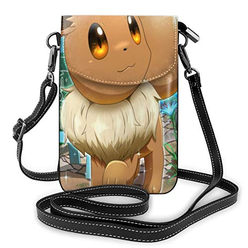 Game Eevee Lightweight Small Crossbody Bags Leather Cell Phone Purses...