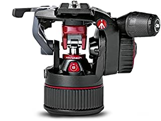 Manfrotto MVHN8AH, Nitrotech N8 Fluid Video Head, Flat Base Mount, Continuous Counterbalance System, Professional Videography, Payload 8 kg, Black/Red (B0725QLZ3C) | Amazon price tracker / tracking, Amazon price history charts, Amazon price watches, Amazon price drop alerts