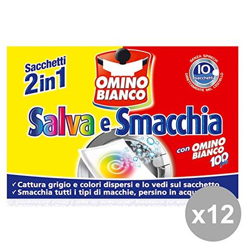 Omino Bianco Set 12 Salva&Smacchiatore Ia 10 Sacchetti Detergenti Casa