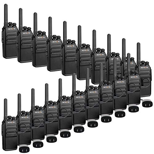 Retevis RT28 Walkie Talkies Long Range Rechargeable,2 Way Radios,Two Way Radios with Charger,VOX Squelch Emergency Alarm,Adults Police Security Company Warehouse (20 Pack)