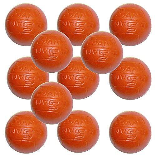 Billares Sam Bola futbolin plastico Naranja flashball 33mm 17. 5gr 12 Unidades