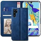 YATWIN Handyhülle Huawei P30 Pro Hülle, Klapphülle Huawei P30 Pro Premium Leder Brieftasche Schutzhülle [Kartenfach][Magnet][Stand] Handytasche für Huawei P30 Pro Hülle, Blau