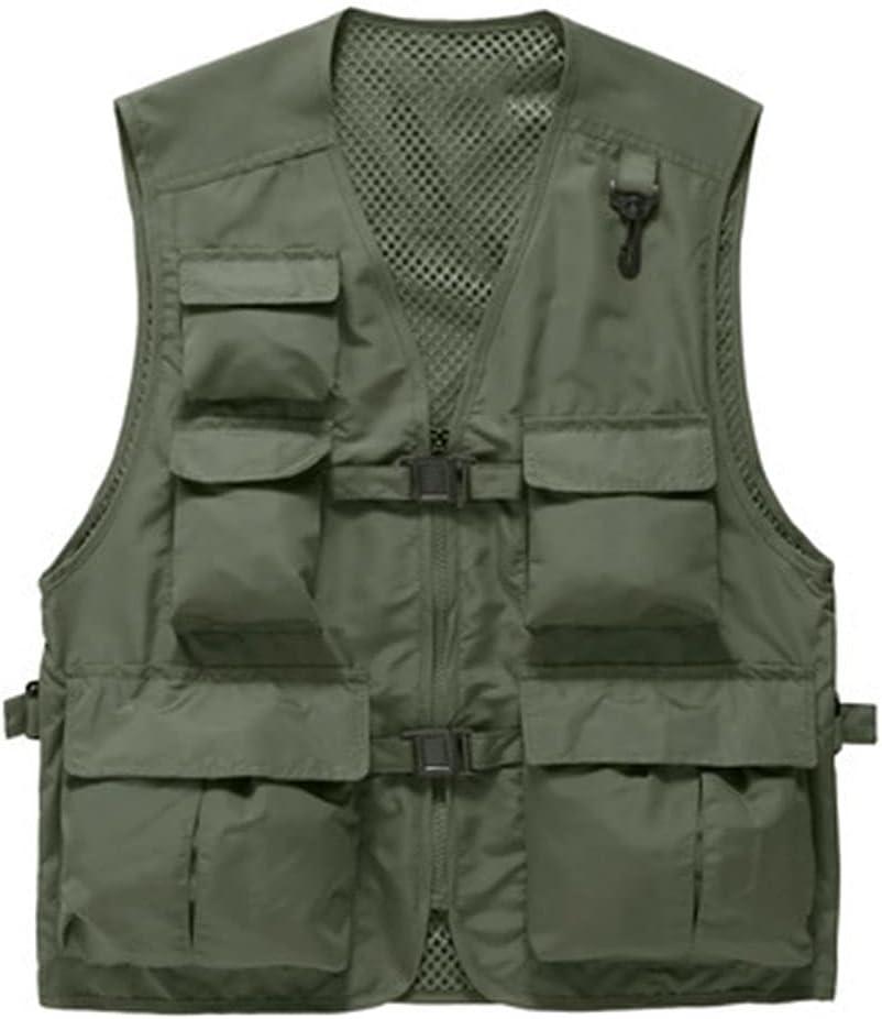 HYFDGV Fishing Vests for Multi-Pockets Memphis Mall Brand new Vest Men Photogra