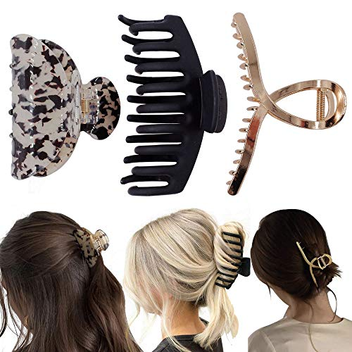 Hair Claw Clips Set - Hair Clips for Women and Girls,Tortoise Hair Claw Clips for Thin Hair,Cute Banana Hair Clips for Stying Thick Hair,Claw Clips