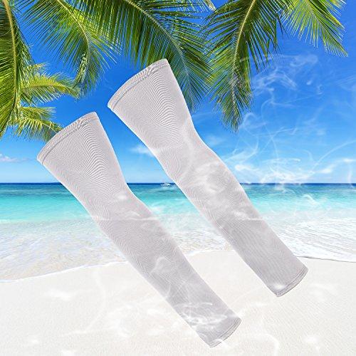 Tagvo Arm Sleeves, 3 Paar Outdoor Sports Arm Warmers Atmungsaktive Soft UV Schutz Cover Elbow Ärmeln Stretchy Arm Cooling Covers für Laufen/Radfahren/Fahren/Klettern/Golfen - 2