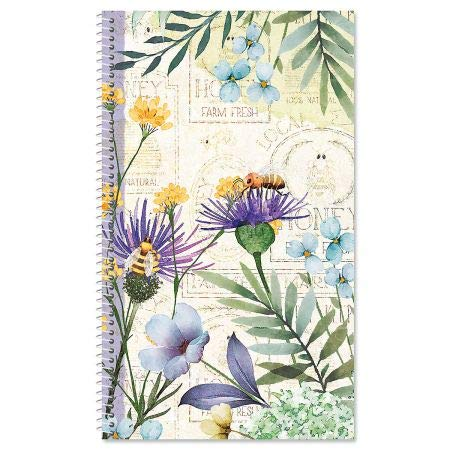 Wildflower Sanctuary Password and PIN Keeper Book - 100 Pages; 5 Inch x 8-1/2 inch, Softcover Spiral-Bound Website Login...
