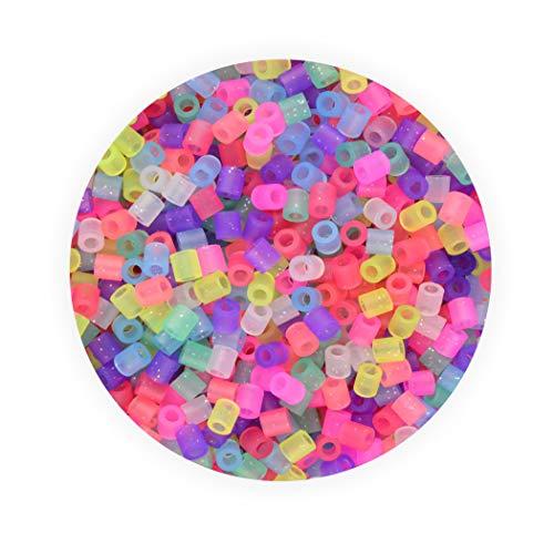 Bügelperlen Midi Pastell mit Glitter ca. 5.000 Stück