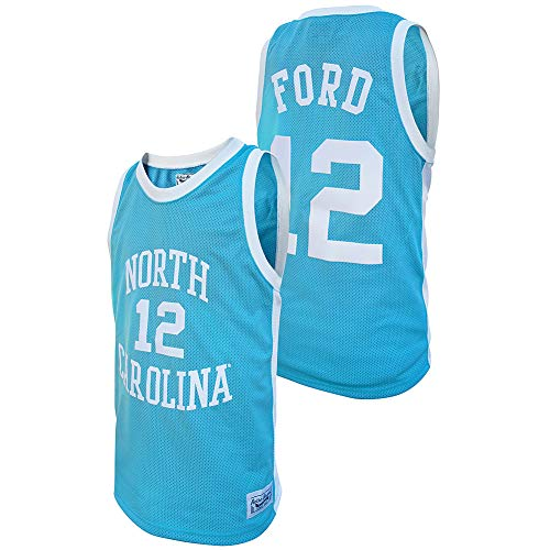 Elite Fan Shop Phil Ford Retro North Carolina Tar Heels Basketball Jersey - Large - Phil Ford Blue