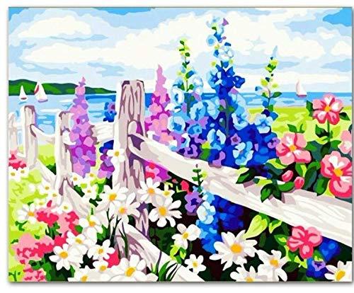 Primavera Diy Pintura Por Números Pintado A Mano Pintura De La Lona Inicio Arte De La Pared Imagen Para La Sala De Estar Regalo Único Con Marco 40x50cm