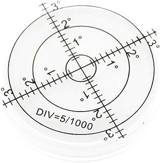 Olive-G 大型 メモリ タイプ 水平器 水準器 傾斜 測定 アナログ 丸型 ホワイト
