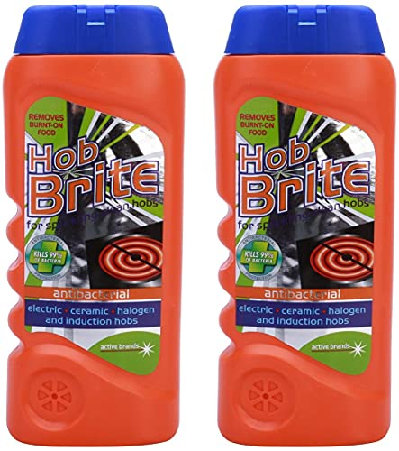 Hob Brite Original Ceramic, Electric, Halogen and Induction Hob Cream Cleaner (300ml, Pack of 2)