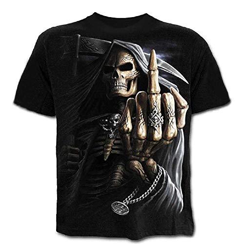 C02 - gebreid t-shirt - korte mouwen - 3d - vrouw - man - man - grappig - accessoires - origineel cadeau-idee - vermomming - dood - schedel - gothic