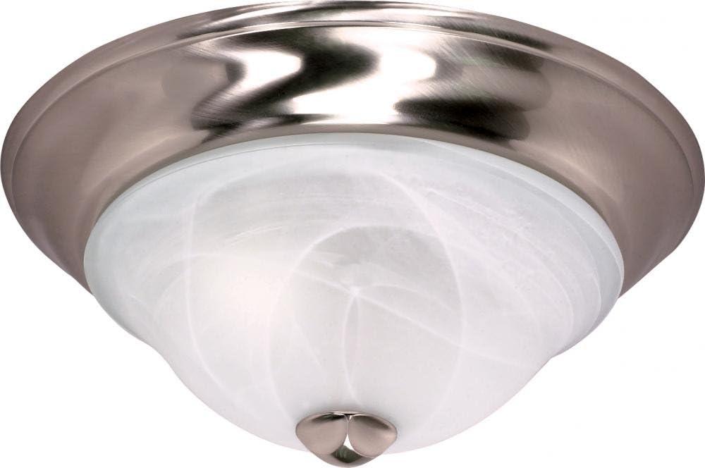sale NUVO Outlet SALE 60 587 Two Light Flush Mount Slvr Nckl Pwt Unknown S B