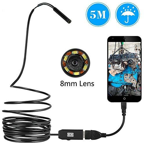 chenn Mini 8mm Objektiv Inspektion Android USB Endoskop Kamera 6LED Android USB Endoskop 5M weiches Kabel Snake Car Repair Pipe, 3,5M Kabel