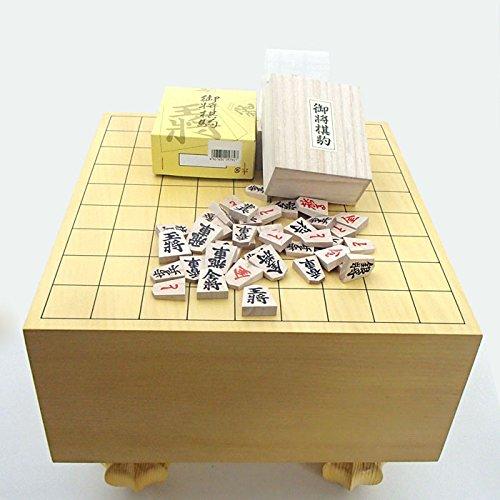 堂々の将棋盤セット 常識を破った環境にやさしいエコ足付将棋盤5寸と木製特選将棋駒