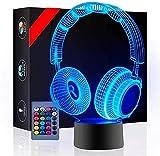 Luz nocturna 3D con luz USB para auriculares, cargador USB, ideal como regalo de cumpleaños, vacaciones, Navidad para bebé