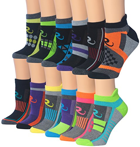 Ronnox Women's 12-Pairs Low Cut Running & Athletic Performance Socks Small/Medium RLT12-AB