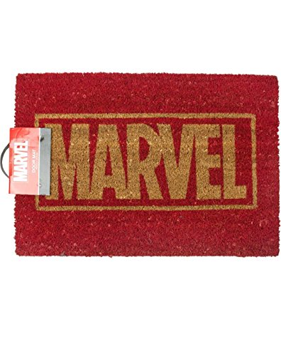 Pyramid International Marvel (Logo) Fussmatte, COCONUT WITH RUBBER BOTTOM, mehrfarbig, 40_x_60_cm