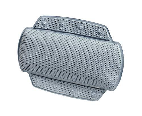 """Spirella Badewannenkissen \""""Alaska Grau\"""" mit 8 Saugnäpfen antibakteriell, rutschhemmend 23 x 32 cm waschbar, Made in Germany"""