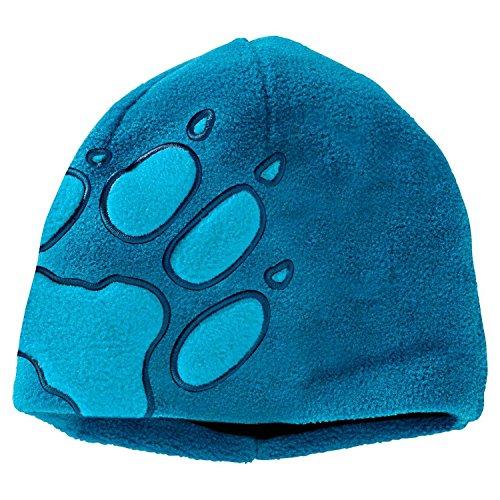 Jack Wolfskin Kinder Mütze Front Paw, Dark Turquoise, One size