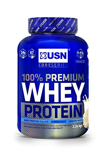 USN 100 Percent Whey Protein Vanilla 2.28 kg: Muscle Building and Recovery Whey Isolate Protein Powder