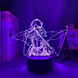 3D Sleep Light Anime Art Online Figura 3D LED Night Light for Bedroom Decor Night Light Birthday Gift Table Room Lamp Manga Party Holiday gifts