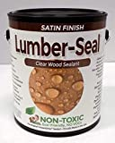 TriCoPolymer VOC Free Non Toxic Lumber-Seal Clear Satin Wood Sealer, 1...