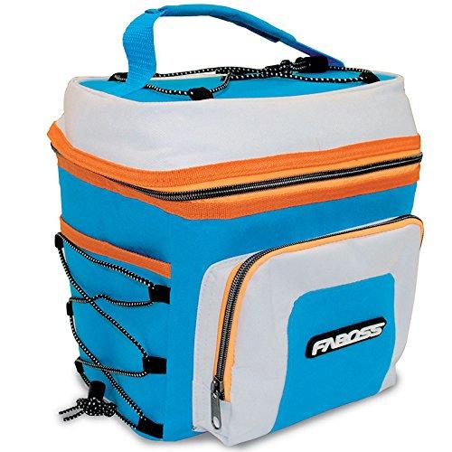 Faboss Sac réfrigérateur, Bleu, Orange, 8 litres, 23 x 17 x 27 cm, Multicolore, Unique