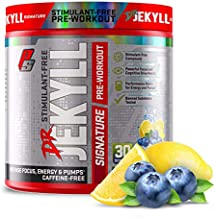 ProSupps® Dr. Jekyll® Signature Pre-Workout Powder, Stimulant & Caffeine Free, Intense Focus, Energy & Pumps, (30 Servings, Blueberry Lemonade)