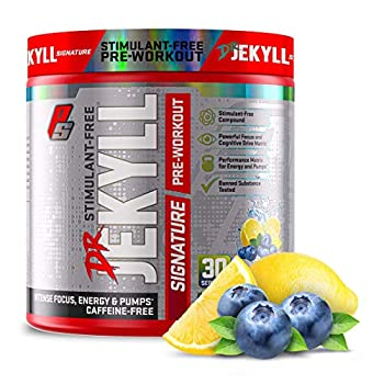 ProSupps Dr Jekyll Signature Pre-Workout Powder Stimulant & Caffeine Free Intense Focus Energy & Pumps  30 Servings Blueberry Lemonade