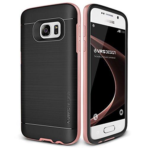 VRS Design Galaxy S7 Hülle, Schutzhülle [Rosa Gold] Schlagfesten Stoßstangen TPU Bumper Case Kratzfeste Schlanke Handyhülle [High Pro Shield] für Samsung Galaxy S7 2016
