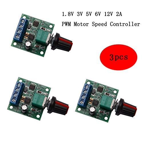 in budget affordable CHENBO 3 Parts DC 1.8 V 3 V 5 V 6 V 12 V 2 A PWM Motor Speed Controller Low Voltage Motor Speed Control…