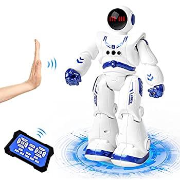 RC Robot Toy for Kids Astronaut Robot Smart Programmable Remote Control Robots with Gesture Sensing Control Intelligent Robot Toy for Kid 3-8 Year Boys Girls with Interactive Walking Singing Dancing