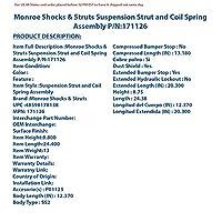 Monroe Shocks & Struts 171126 ストラットアセンブリ